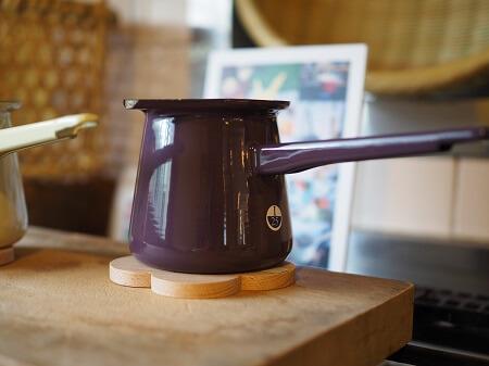 コーヒーポット紫