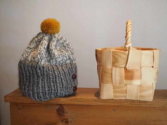 KIKONO帽子とカゴ