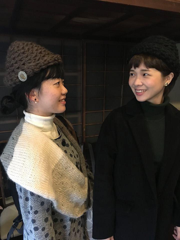ゆび編み帽子