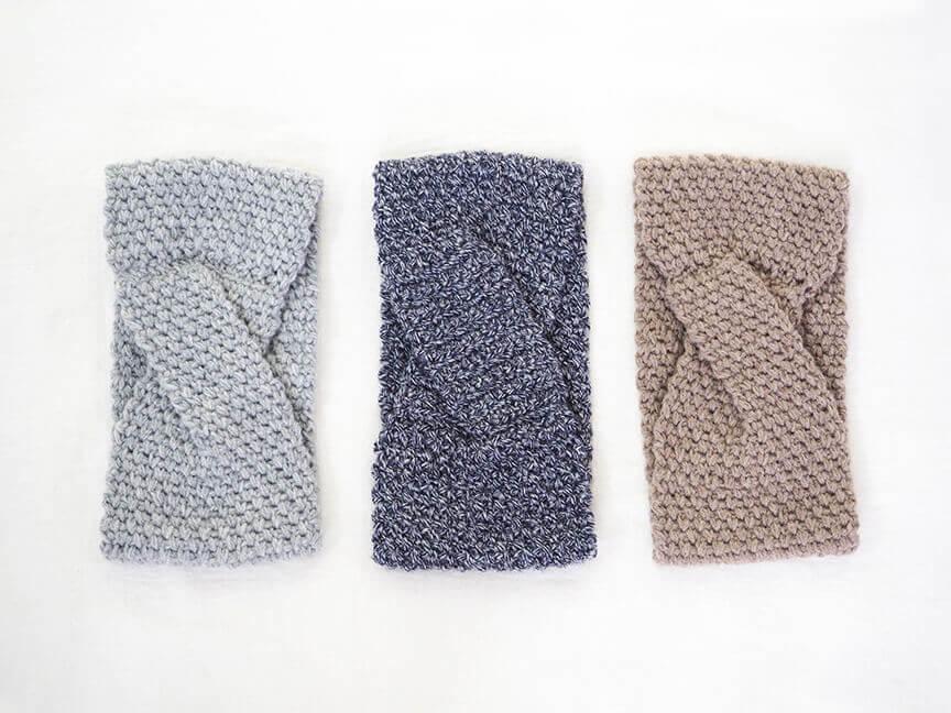 knit cross hair band