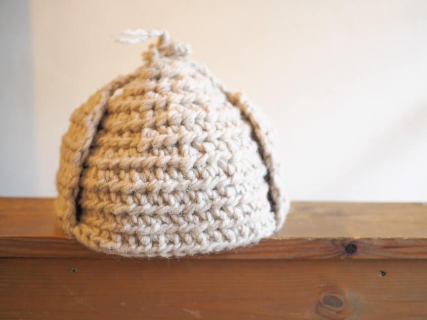 手編み帽子のワークショップ