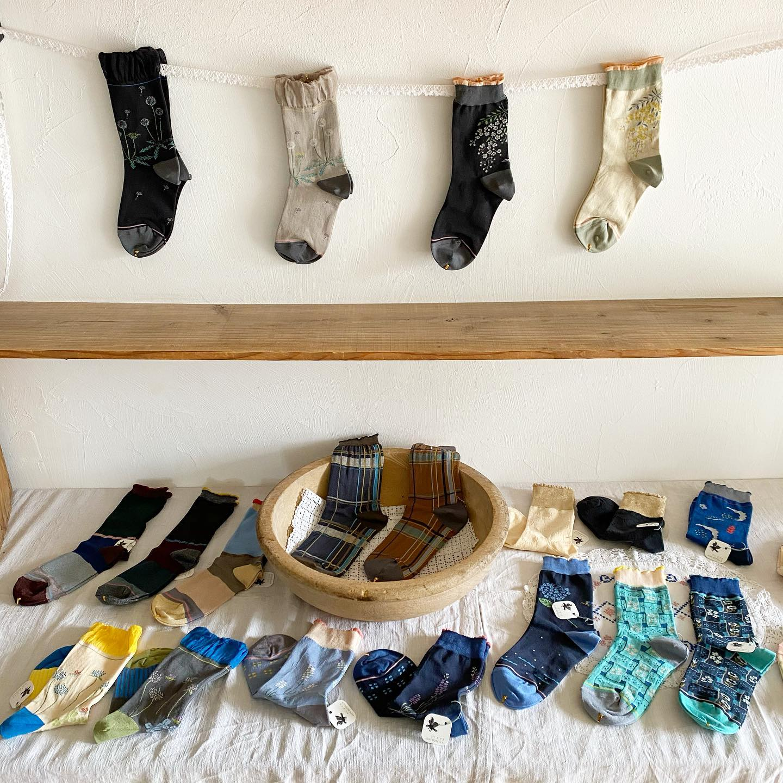 ・おはようございます・本日金曜日も11:00から16:30までオープン致します・クリボテラの靴下展KURI BOTELLA・かわいい靴下に癒されにきてくださいね・・#クリボテラ#靴下